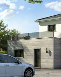 Maison contemporaine avec toit terrasse