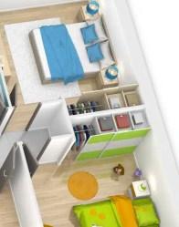 Plan maison 3D Amaryllis - chambres