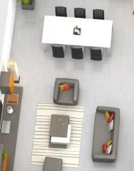 plan maison 3D - salon/séjour