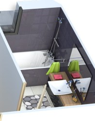 Plan maison 3D - salle de bain moderne