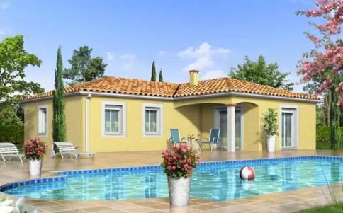 Plan maison en L Jacinthe - maison de plain-pied