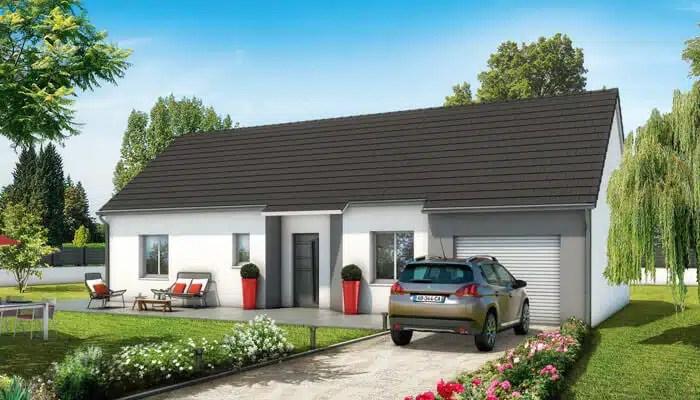 Plan Maison 3D - Maison Plain Pied Lila - Maisons Clair Logis
