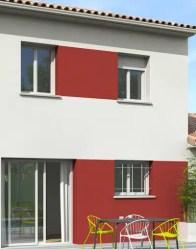 Enduit bicolore - Maison individuelle
