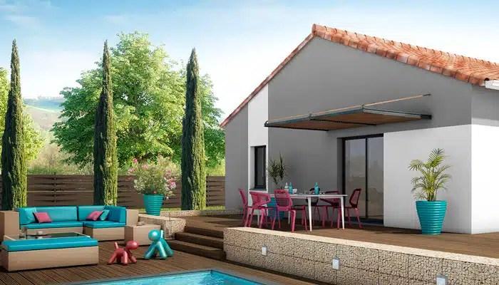 Maison familiale de plain pied avec terrasse