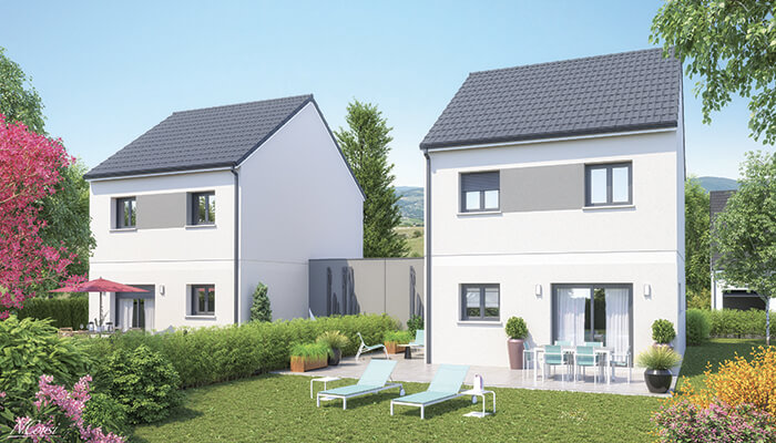Maison individuelle Snap - Tuiles anthracites