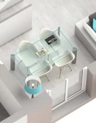 Plan maison 3D Smart - séjour lumineux