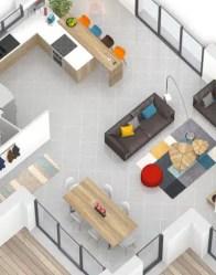 Plan maison 3D Olivine - séjour traversant