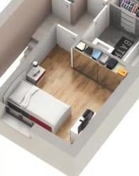 Plan maison Ecrin - Chambre avec placard