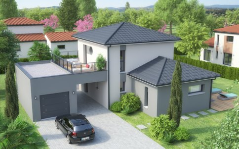 Plan maison moderne Lodge