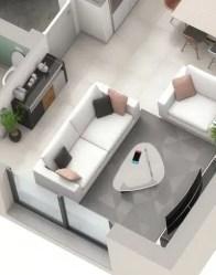 Plan maison 3D Urban - Salon lumineux
