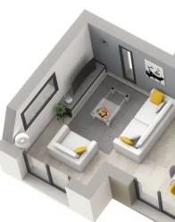 Plan maison Swag - salon à triple orientation