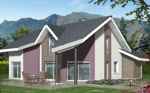 plan maison Arcalod - maison contemporaine