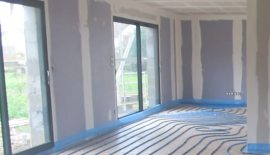 Plancher chauffant - maison neuve