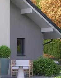 Maison avec garage accolé Belledonne - vue arrière