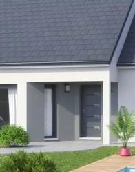 Maison plain pied avec porche à l'entrée