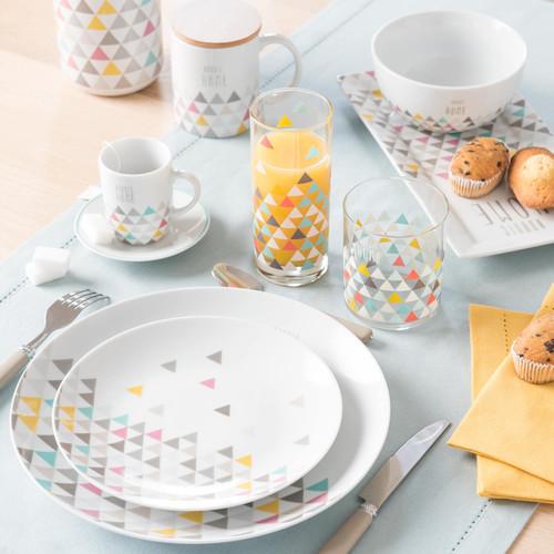 Assiette plate en porcelaine D 27 cm NORDIC HOME