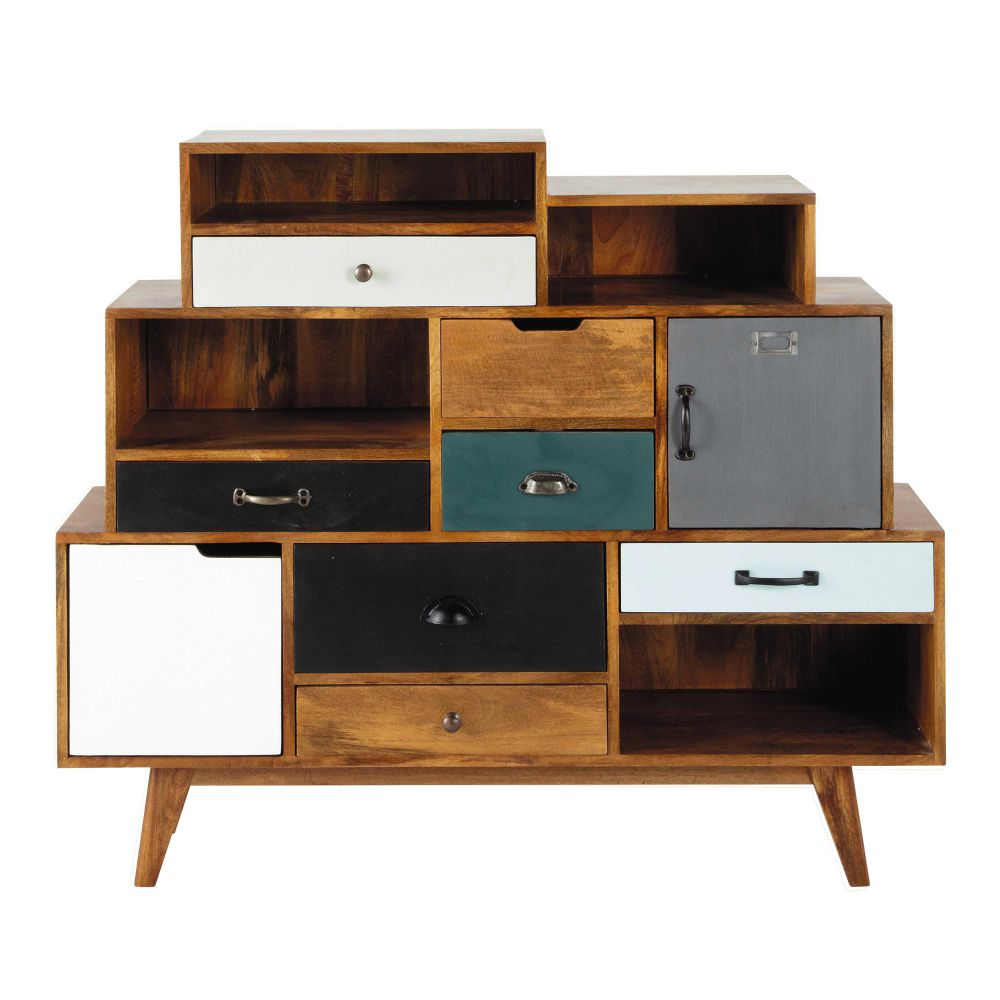 Free Cabinet De Rangement Vintage En Manguier Massif L Cm
