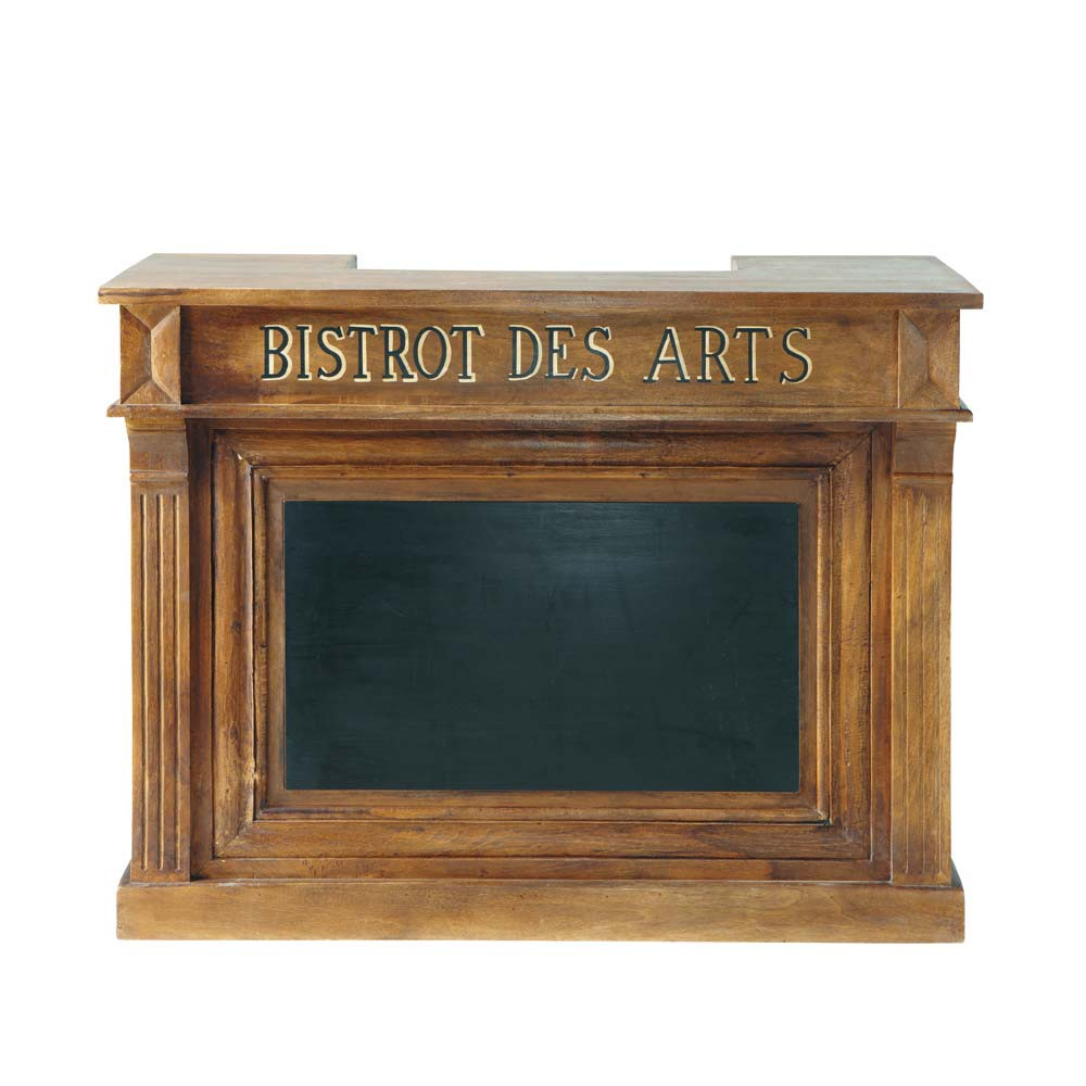 Meuble De Bar En Manguier Massif L 132 Cm Bistrot