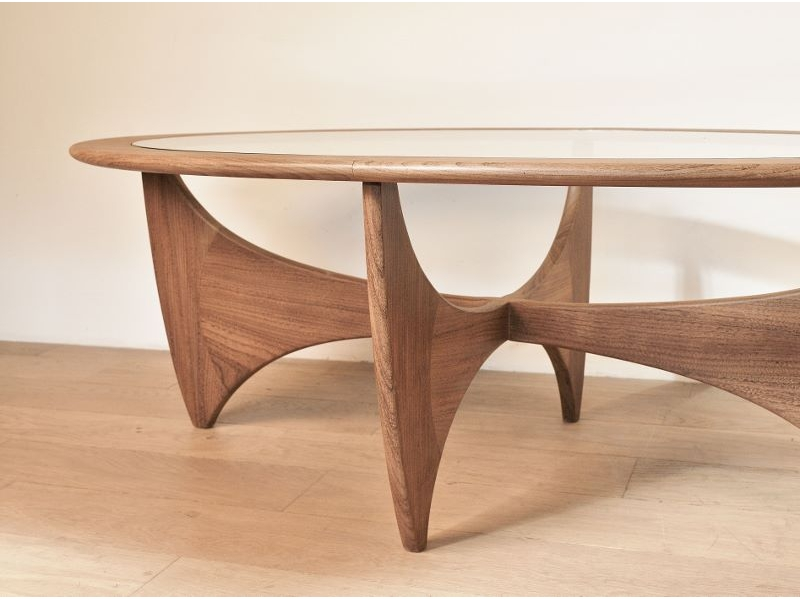 table basse ovale astro teck scandinave