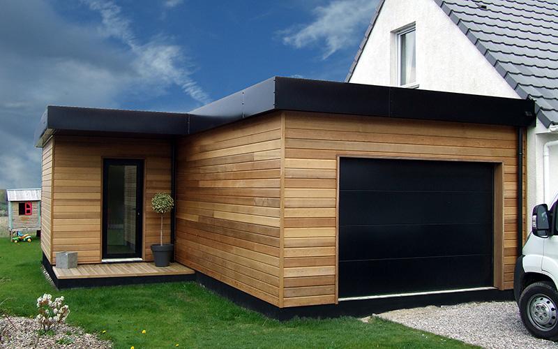 Extension Garage Bois - extension + garage ALTERNATIVE BOIS CONCEPT
