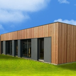 maison cubique en bois