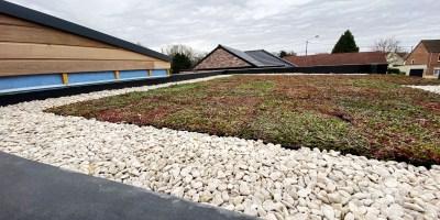 Le 06/04/2020 – Pose de la toiture végétalisée