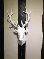 Large white Stag head wall art