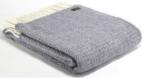 Tweed mill lavender and grey throw blanket