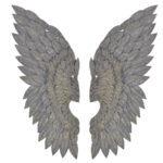 Gilt metal Angel wings wall art feather effect
