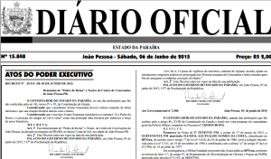 diario oficial centro convencoes