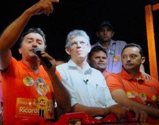 Ricardo com o prefeito eleito de Sumé, Eden Duarte