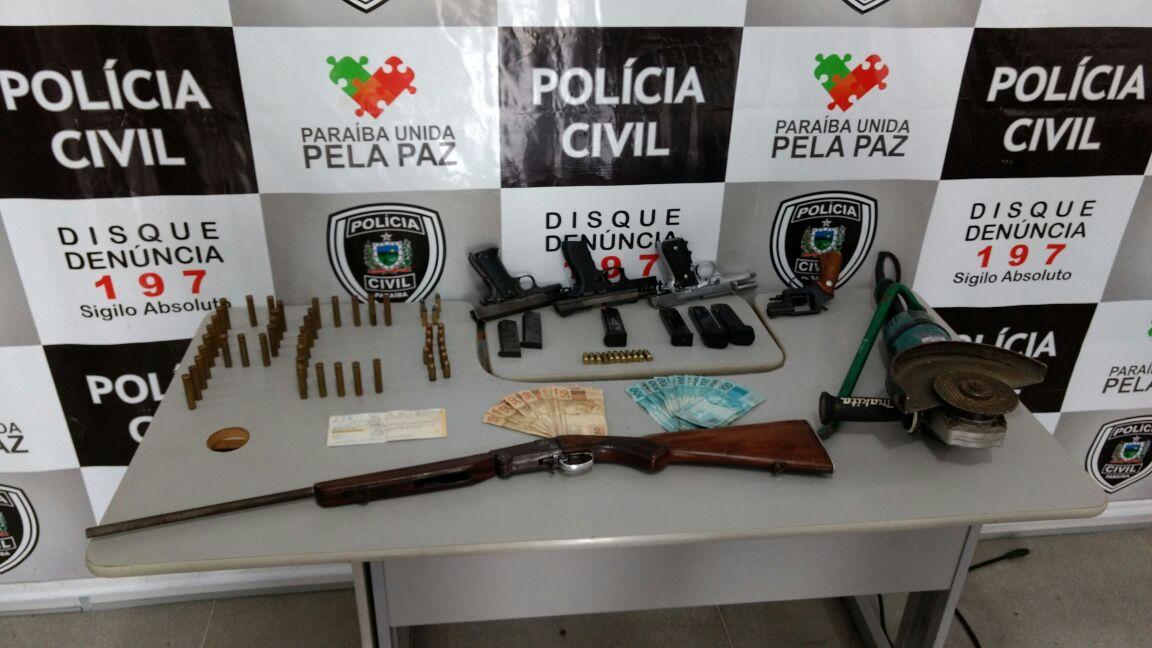 Material apreendido (Foto: divulgação/Polícia Civil)