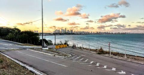 Vista da orla de João Pessoa, PB