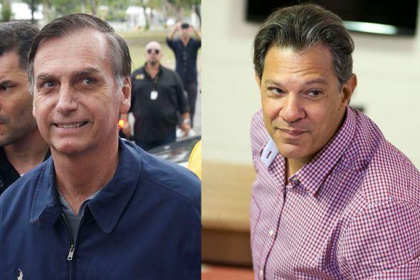 Resultado de imagem para Bolsonaro lidera entre católicos e evangélicos; Haddad possui preferência de ateus