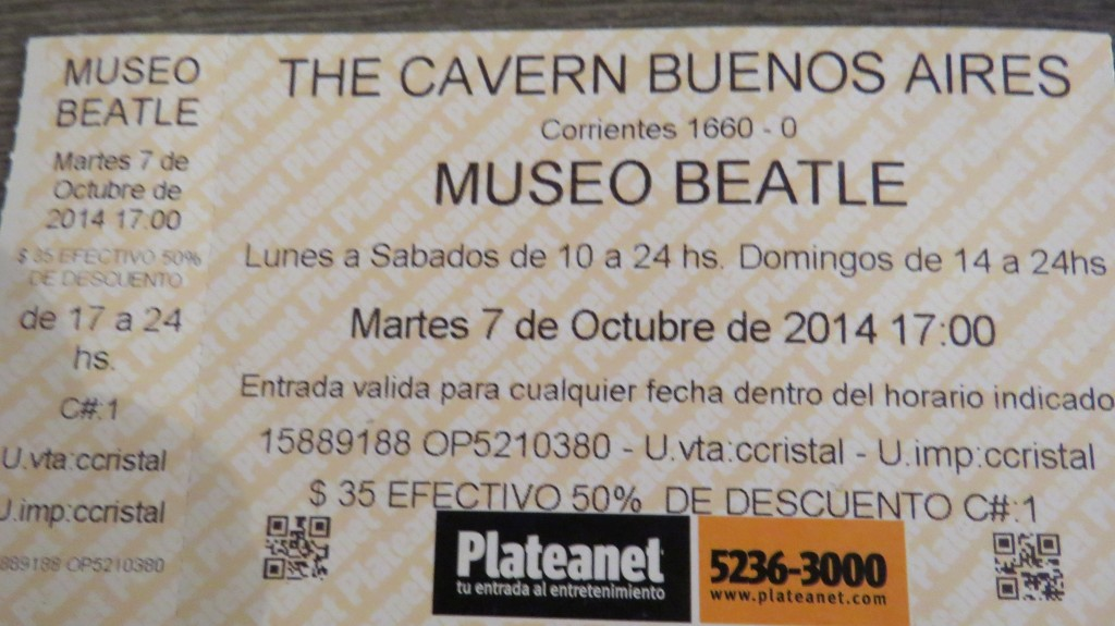 IMG_0476 MUSEU BEATLES/BUENOS AIRES