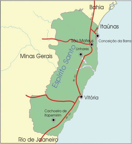MAPA-ITAUNAS ITAÚNAS/ES - DUNAS, PRAIAS, RIOS E UM SOL ALUCINANTE