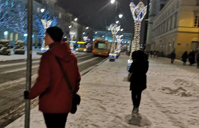 Varsavia sotto la neve