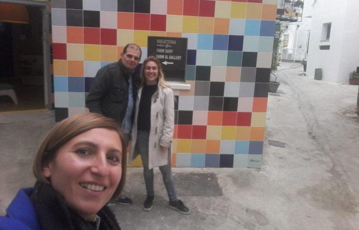 al lavoro con la mia tutor Cristina e Florinda