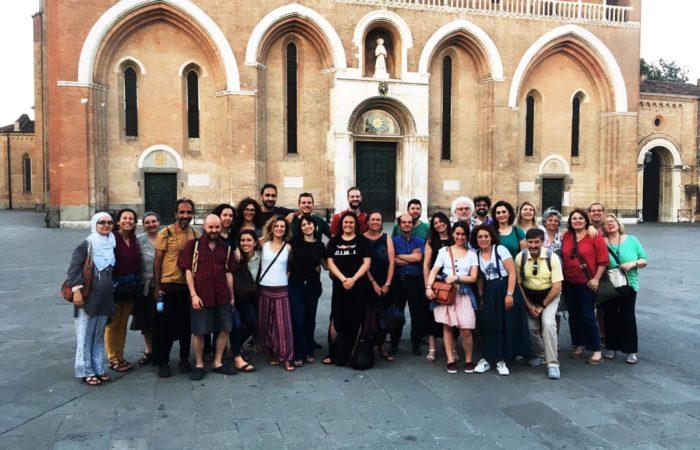Foto di gruppo dopo l'assemblea, Padova