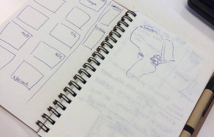 quaderno di appunti sullo studio del prodotto Africa