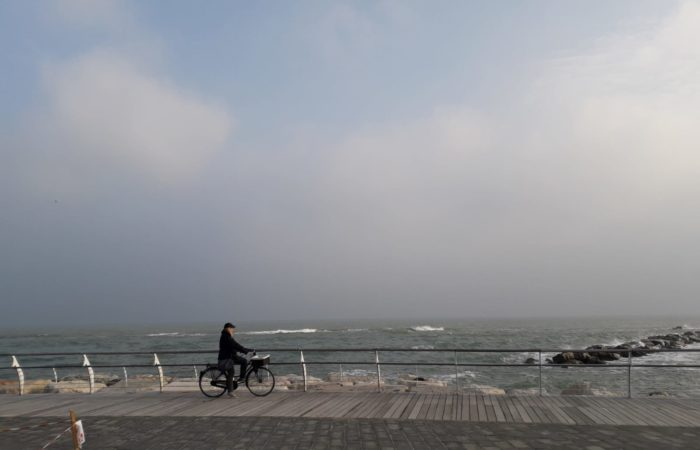 pedalando in biciletta