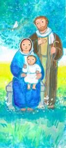 Sainte Famille, Marie, Jésus, Joseph, Signet- Maïte Roche