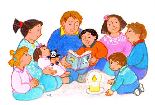 lecture en famille, maïte roche