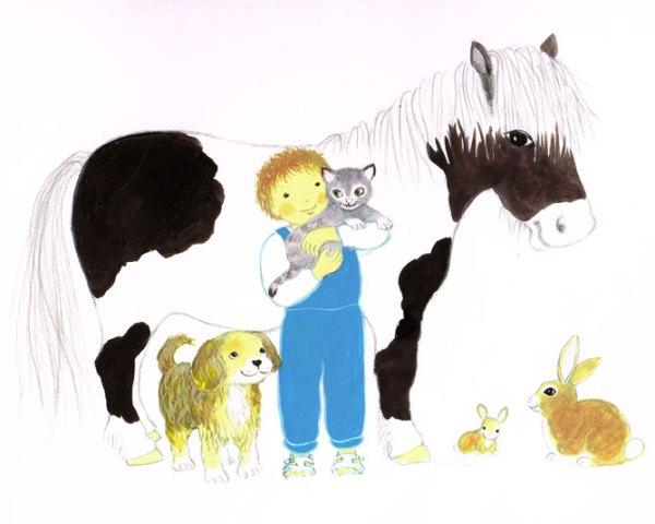 L'enfant et les animaux, in Enfant de la création, Maïte Roche, Mame, 1982