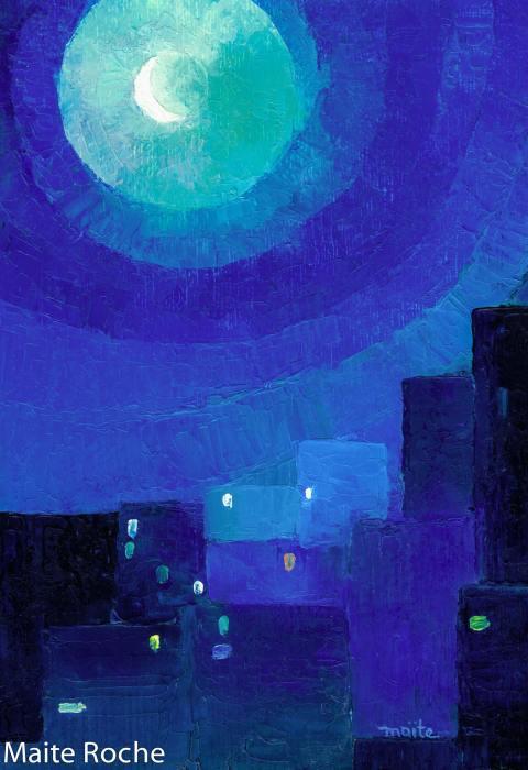 La ville sous la lune, Je vous Salue Marie, Maïte Roche, Editions Droguet-Ardant 1979