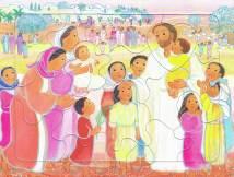 Jésus et les petits enfants, puzzle 16 pièces, Maïte Roche, Mame