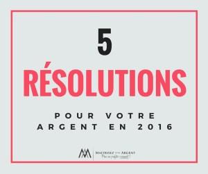 5 resolutions