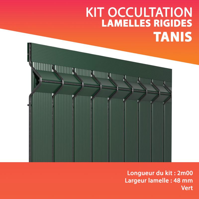 kit tanis lamelles rigides occultantes lg 2m00 lamelle 48 mm
