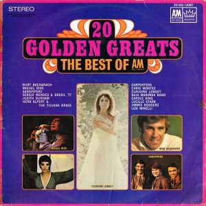 Majestic (A&M) - 20 Golden Greats - 20GG - Front Cover