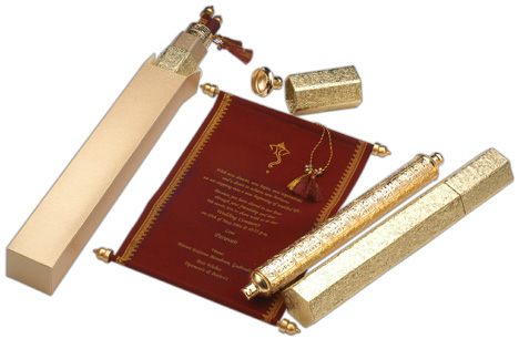 Mini Scroll With Gold